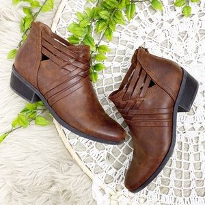 BareTraps Goldie Ankle Booties Brown Sz 8